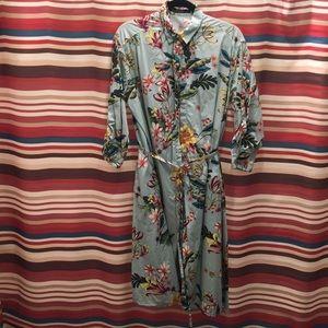 ZARA Floral Button Down Dress